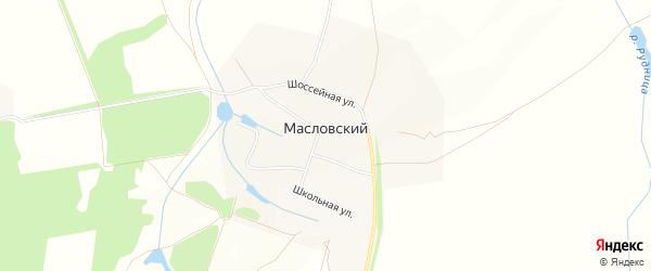 Карта Масловский поселка города Зарайска в Московской области с улицами и номерами домов