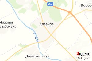 Карта с. Хлевное Липецкая область
