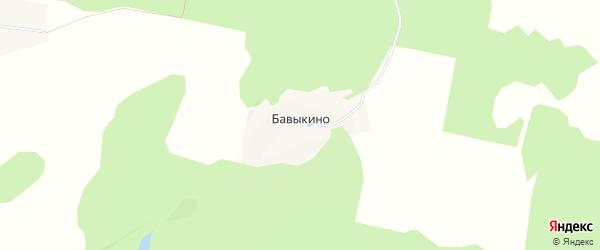 Карта деревни Бавыкино города Зарайска в Московской области с улицами и номерами домов