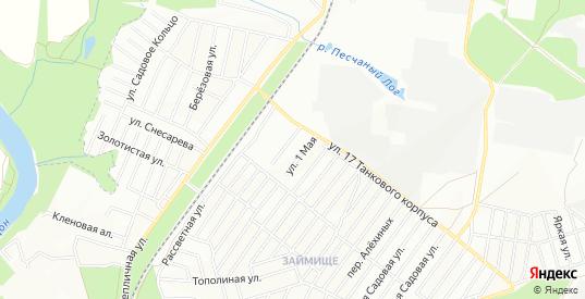 Карта поселка ДНТ Гардарика в Воронеже с улицами, домами и почтовыми отделениями со спутника онлайн