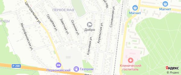 Ключевая улица на карте Воронежа с номерами домов