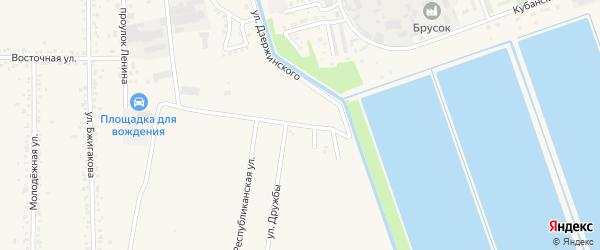 Улица Керашева на карте поселка Тлюстенхабля Адыгеи с номерами домов