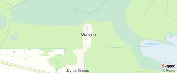 Карта поселка Орловки города Орехово-Зуево в Московской области с улицами и номерами домов