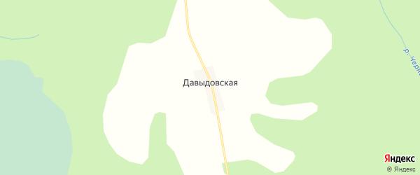 Карта Давыдовской деревни в Вологодской области с улицами и номерами домов