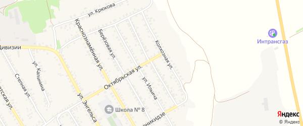 Улица 129 Стрелковой Бригады на карте Острогожска с номерами домов