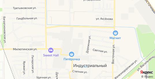 Карта поселка Индустриальный в Краснодаре с улицами, домами и почтовыми отделениями со спутника онлайн