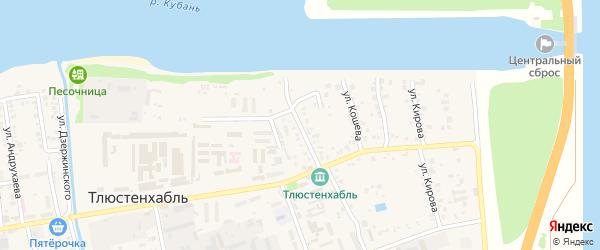 Улица Хан-Гирея на карте поселка Тлюстенхабля Адыгеи с номерами домов