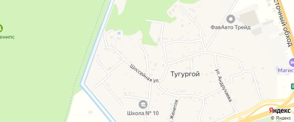 Улица Ворошилова на карте Тугургоя аула Адыгеи с номерами домов