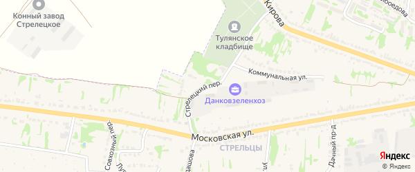 Стрелецкий переулок на карте Данкова с номерами домов