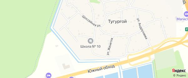 Школьная улица на карте Тугургоя аула Адыгеи с номерами домов