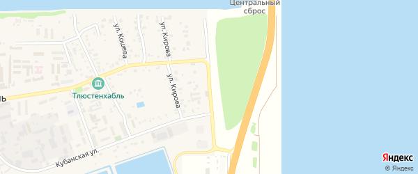 Адыгейская улица на карте поселка Тлюстенхабля Адыгеи с номерами домов