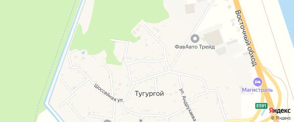 Комсомольская улица на карте Тугургоя аула Адыгеи с номерами домов