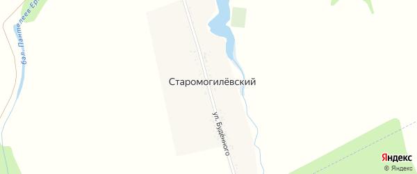 Улица Буденного на карте Старомогилевского хутора Адыгеи с номерами домов