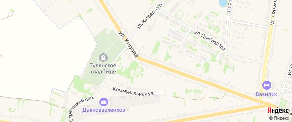 Улица Кирова на карте Данкова с номерами домов