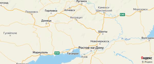 Карта Куйбышевского района Ростовской области с городами и населенными пунктами