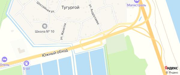 Первомайская улица на карте Тугургоя аула Адыгеи с номерами домов