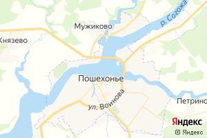 Карта г. Пошехонье Ярославская область