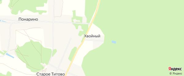 Карта Хвойного поселка в Московской области с улицами и номерами домов