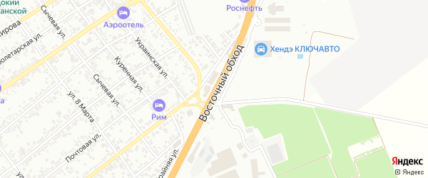 Дорога А/М М-4 ДОН на карте поселка Тлюстенхабля Адыгеи с номерами домов