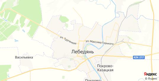 Карта Лебедяни с улицами и домами подробная. Показать со спутника номера домов онлайн