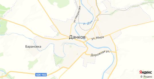 Карта Данкова с улицами и домами подробная. Показать со спутника номера домов онлайн