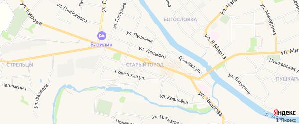 Садовое товарищество Клен на карте Данкова с номерами домов