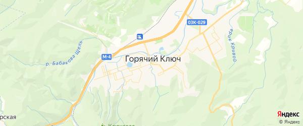 Карта Горячего Ключа с районами, улицами и номерами домов: Горячий Ключ на карте России