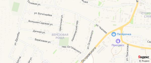Нахимовский переулок на карте Данкова с номерами домов