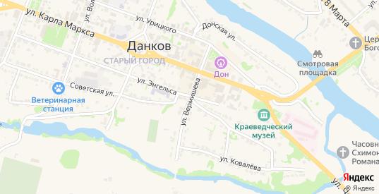 Улица Вермишева в Данкове с номерами домов на карте. Спутник и схема онлайн