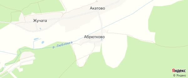 Карта деревни Абрютково города Егорьевска в Московской области с улицами и номерами домов