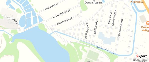Вишневая улица на карте Дружба-14 Адыгеи с номерами домов