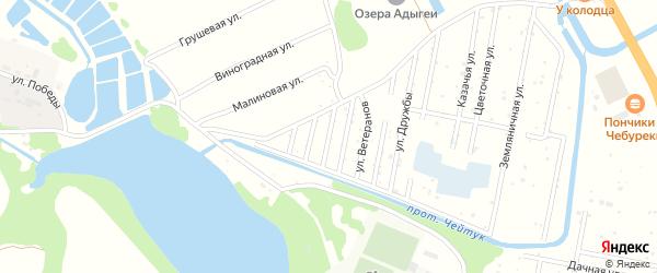 Юбилейная улица на карте Юбилейного Адыгеи с номерами домов