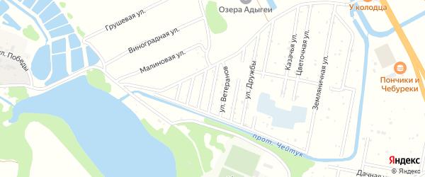 Офицерская улица на карте Юбилейного Адыгеи с номерами домов