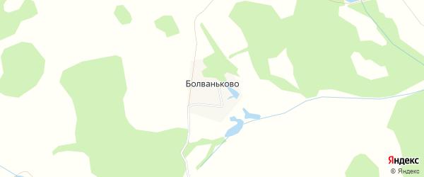 Карта деревни Болваньково города Зарайска в Московской области с улицами и номерами домов