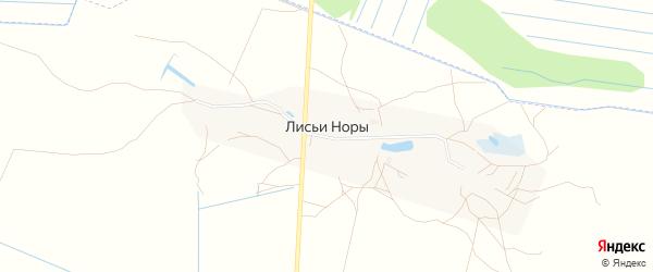 Карта деревни Лисьи Норы города Луховицы в Московской области с улицами и номерами домов