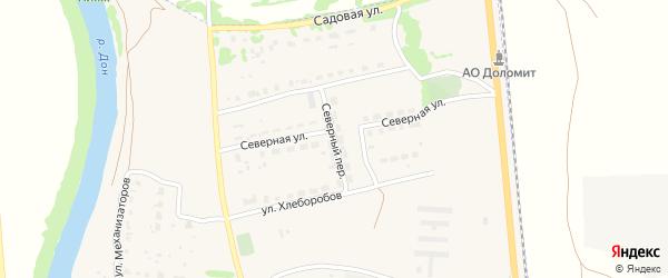 Северный переулок на карте Данкова с номерами домов