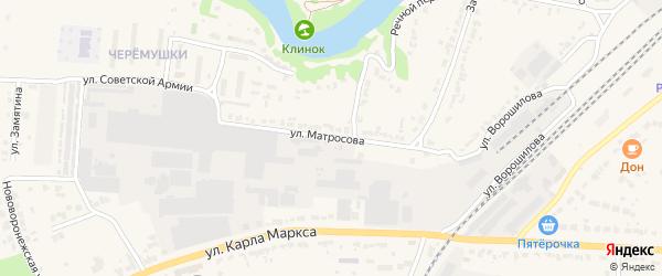 Улица Матросова на карте Лебедяни с номерами домов