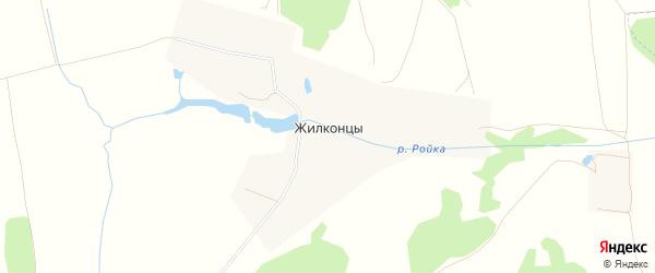 Карта деревни Жилконцов города Зарайска в Московской области с улицами и номерами домов