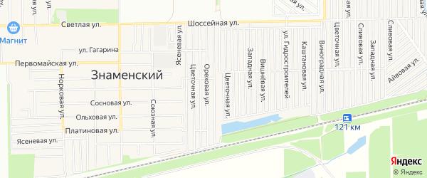 Карта Знаменского поселка города Краснодара в Краснодарском крае с улицами и номерами домов