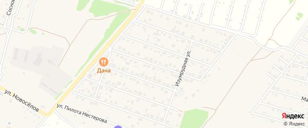 Изумрудная улица на карте деревни Медовки Воронежской области с номерами домов