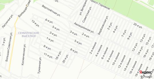 Карта территории ГСК Электрон в Воронеже с улицами, домами и почтовыми отделениями со спутника онлайн