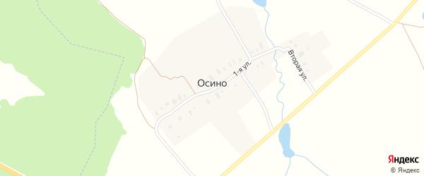 Первая улица на карте деревни Осино Владимирской области с номерами домов