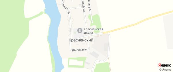 Улица Ленина на карте Красненского хутора Адыгеи с номерами домов