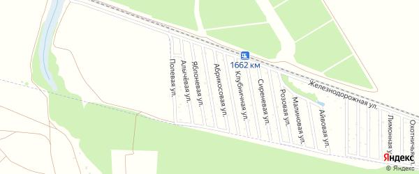 Персиковая улица на карте Радуги Адыгеи с номерами домов