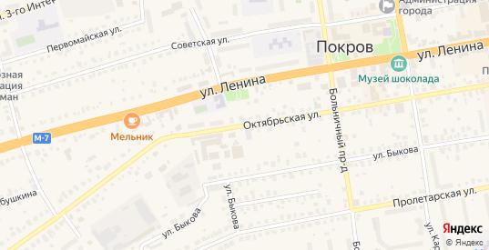 Октябрьская улица в Покрове с номерами домов на карте. Спутник и схема онлайн