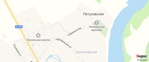 Садовый переулок на карте Трофимовской деревни Архангельской области с номерами домов