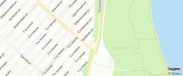 Грейдерная улица на карте территории Расцвета с номерами домов