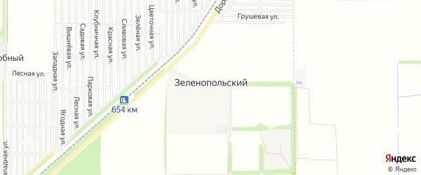 Карта Зеленопольского поселка города Краснодара в Краснодарском крае с улицами и номерами домов