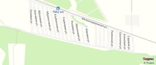 Малиновая улица на карте Дружба-14 Адыгеи с номерами домов