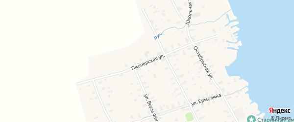 Пионерская улица на карте села Ненокса с номерами домов